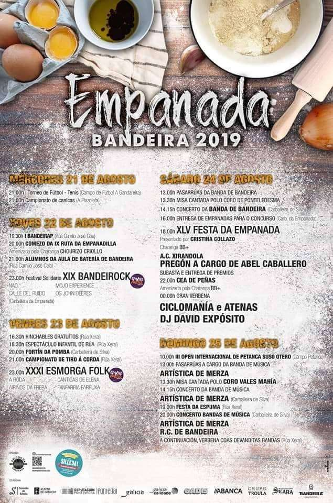 Festas do Verán - XLV Festa da Empanada de Bandeira (2019) en Silleda