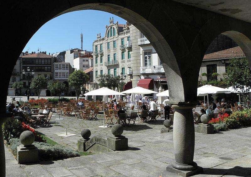 Plaza de A Ferrería en Pontevedra