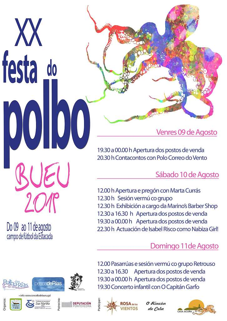 XX Festa do Polbo (2019) en Bueu