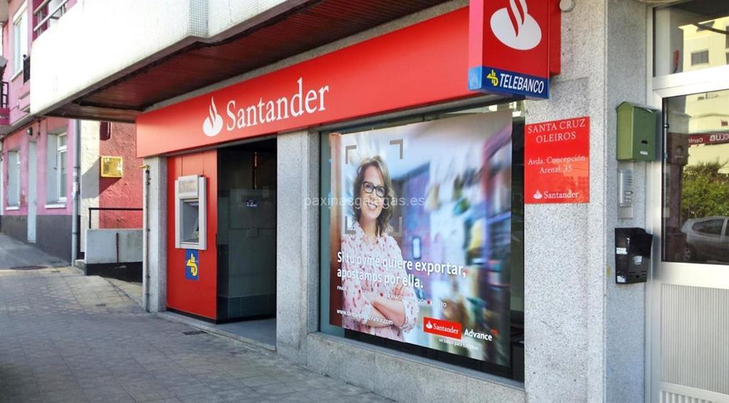 Banco santander oleiros avda concepci n arenal 35 for Horario de oficina santander